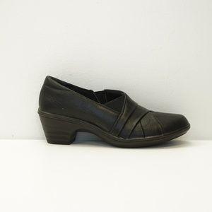 Judith Block Heel Slip On Loafer Black 6.5